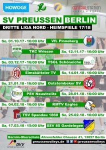 Heimspiele 2017/18 Dritte Liga Nord