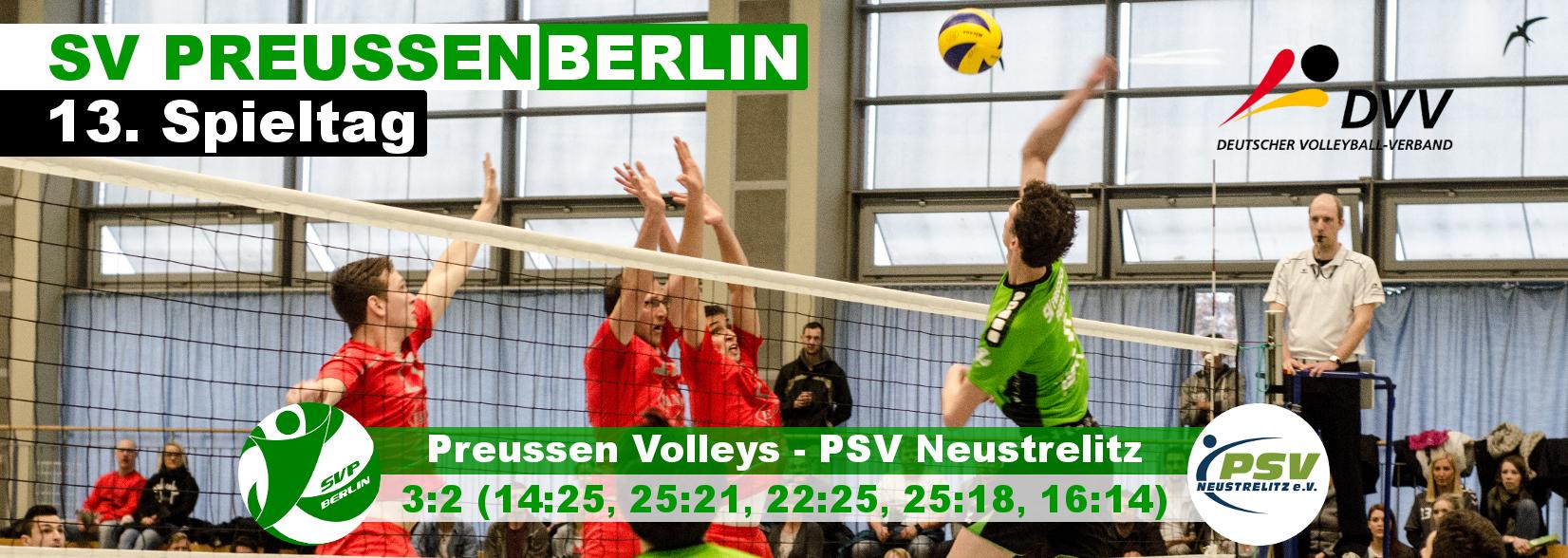 13. Spieltag gegen den PSV Neustrelitz