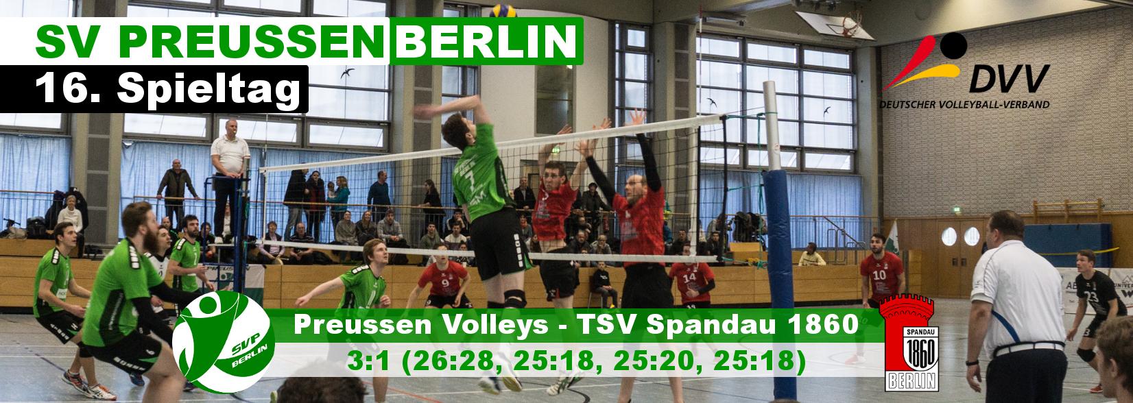 16. Spieltag gegen den TSV Spandau 1860